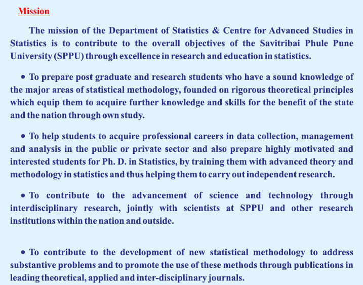 Department of Statistics : Savitribai Phule Pune University